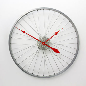 Large Wall Clock, Bicycle Wheel Clock, bike wheel clock Bicycle Clock, Bike Wall Clock, Unique wall clocks, cycling gift