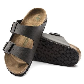 Sale Birkenstock Arizona Birko Flor Pull Up Anthracite 1009366/1009367 Sandals