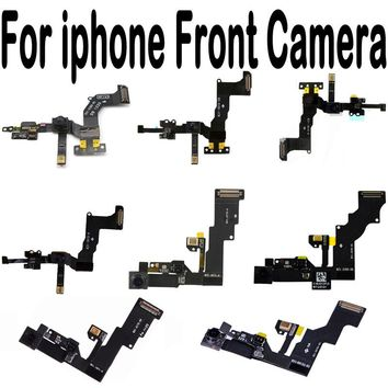 100% New For iPhone 4 4S 5 5S 5C 6G 6 6S Plus Front Facing Camera Right Proximity Sensor Flex Cable With Microphone Assembly
