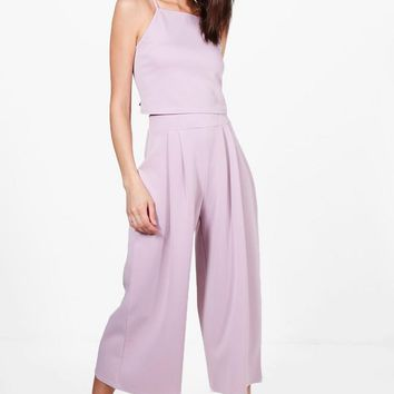 Rose Strappy Crop & Culotte Co-Ord Set | Boohoo