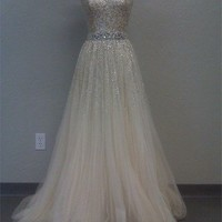 Gorgeous A-line Sweetheart Tulle Prom Dresses with Sequins from prom 2013