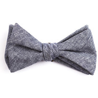 Solid Denim Bow Tie