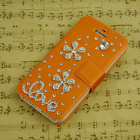 bling iphone 5 case flip floral iphone 4s flip case iphone 5c otterbox iphone 5s phone cases cute samsung galaxy note 3 s5 s4 s3 flip cases