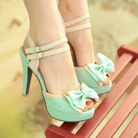 Fashion bowknot fine with sandals