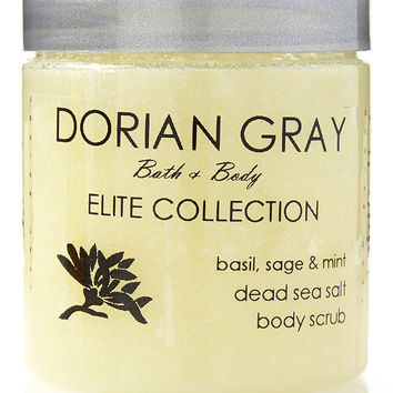 Dead Sea Body Scrub Elite Collection: Basil, Sage and Mint