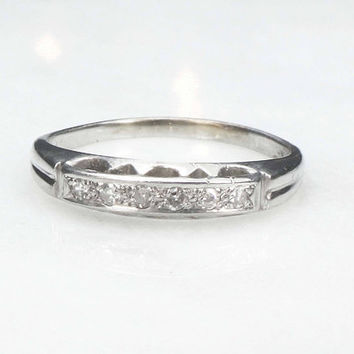 Vintage Diamond Wedding Band Diamond Wedding Ring 14k Wedding Band Diamond Wedding Band Vintage Wedding Band Vintage Wedding Ring Stackable