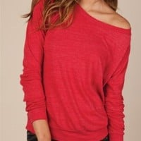 Eco-Heather Slouchy Pullover