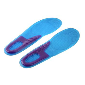 1 Pair Orthopedic Arch Support Massaging Silicone Anti-Slip Gel Insole
