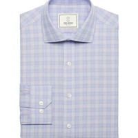 Rockaway Multi Color Check Dress Shirt In Iris
