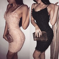 Sexy Women Dress 2019 Sleeveless Sequin Bodycon Dress Club Dress Elegant Party Evening Mini Dresses Robe Femme vestidos mujer