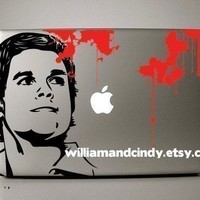 Dexter  Macbook Decal mac decal macbook sticker by williamandcindy