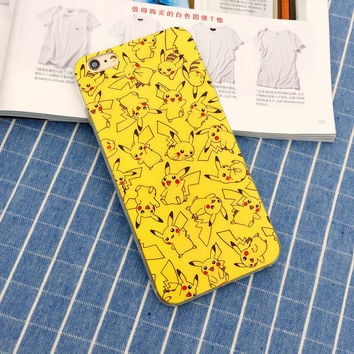 Pikachu Yellow Fab! Pokemon Phone Case For iPhone 7 7Plus 6 6s Plus 5 5s SE