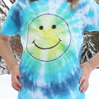Custom Smiley Face Tshirt-  Kids Tiedye Shirt- Hippie Kids Clothes- Smiley Face Shirt- Happy Face Shirt- Happy Face Tshirt- Custom Tie Dye