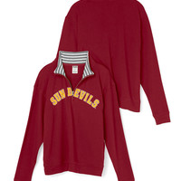 Arizona State University Boyfriend Half-Zip - PINK - Victoria's Secret