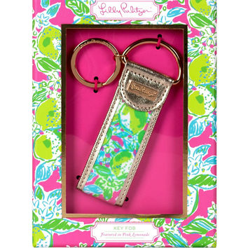 Lilly Pulitzer Key Fob: Pink Lemonade