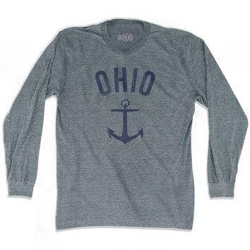 Ohio State Anchor Home Tri-Blend Adult Long Sleeve T-shirt