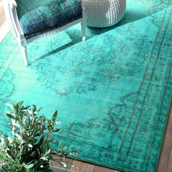Winsdor Overdyed Grove Turquoise Rug