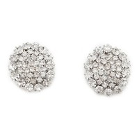 Rhinestone Snowflake Stud Earrings: Charlotte Russe