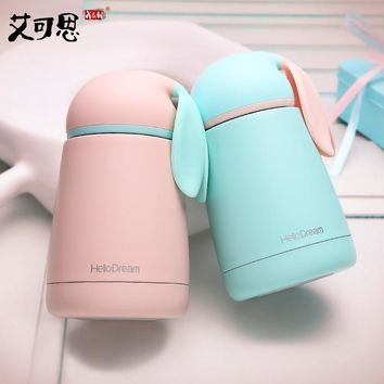 Cute Rabbit Thermal Cup Coffee Mugs Thermo Cup Thermos Bottles Water Bottle Cup Travel Mugs Portable Water Cups Christmas Gift