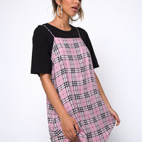 Sagha Slip dress in Pink Check by Motel