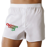 Christmas Cheer Color Boxer Shorts