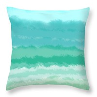 Feels Like Summer Throw Pillow for Sale by Bill Owen