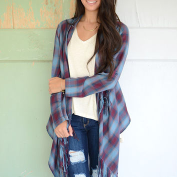 Aria Plaid Cardigan