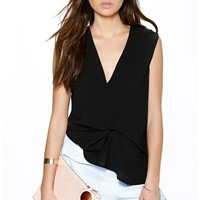 Emily Knot Front Sleeveless Shell Top