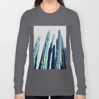 Cactus #society6 Decor #fashion #lifetsyle Long Sleeve T-shirt by 83oranges.com | Society6