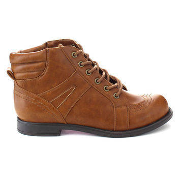 DE BLOSSOM COLLECTION CANA-27 Women's Lace Up Low Block Heel Ankle Booties | Overstock.com Shopping - The Best Deals on Booties