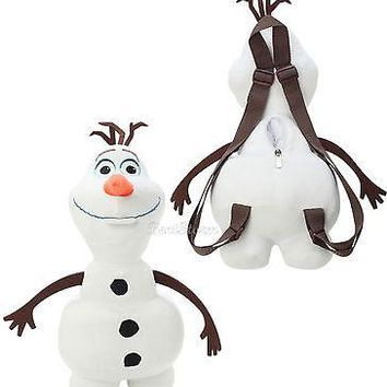 """Licensed cool NEW Disney FROZEN OLAF SNOWMAN PLUSH 15"""" Long Costume Backpack Purse Tote Bag"""