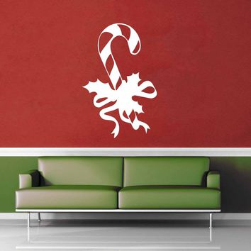 Candy Cane - Holiday Décor - Wall Decal$8.95