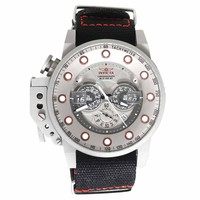 Invicta 18695 Men's I-Force Grey Dial Grey IP Steel Black Nylon Strap Chronograph Lefty Watch