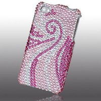 Asmyna IPHONE4HPCDM005NP Luxurious Dazzling Diamante Bling Case for iPhone 4 - 1 Pack - Retail Packaging - Phoenix Tail