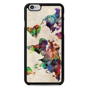 World Map Urban Watercolor iPhone 6/6S Case