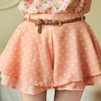 Polka Skirt Shorts +Belt