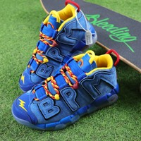 Nike Air More Uptempo QS Doernbecher Basketball Shoes Blue Sneaker - Best Online Sale