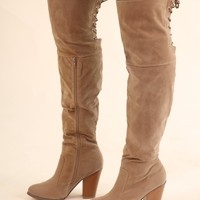OTK LACE UP BOOTS - TAN
