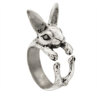 1pcs/lot Mix Color Vintage Hippie Chic Vintage Handmade Rabbit Bunny Animal Vintage Knuckles Rings for Women Fashion Jewelry