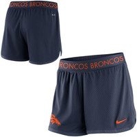 Women's Nike Navy Blue Denver Broncos Ultimate Mesh Shorts