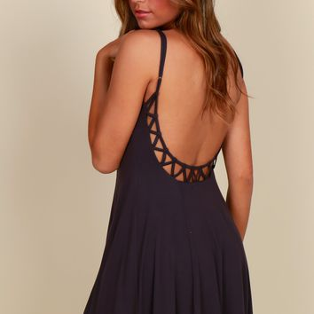 Darling Detailed Dress Charcoal