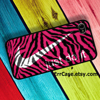 Nike Just Do It Pink Zebra Skin , Nike Case , Just do it Case , Skin Case , Zebra Case : Iphone 4/4s case Iphone 5 case Galaxy S3 case