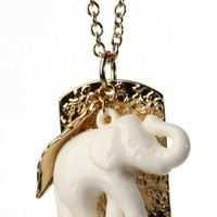 stil - elephant dog tag necklace (more colors) | Stil | 80's Purple