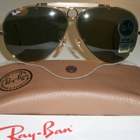 VINTAGE B&L RAY BAN L0213 ARISTA G15 WRAP-AROUND SHOOTER AVIATOR SUNGLASSES NEW