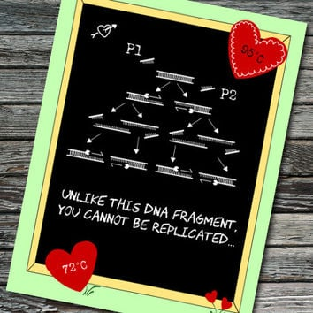 PCR of Love Nerdy Science Card - Anniversary / Valentine's Day / Love | Student, Teacher, Professor, Scientist, Molecular Biologist
