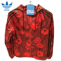Adidas red rose coat jacket
