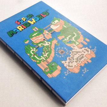 Super Mario World map and gameplay designed blank journal with 80 pages 5.5X8.5