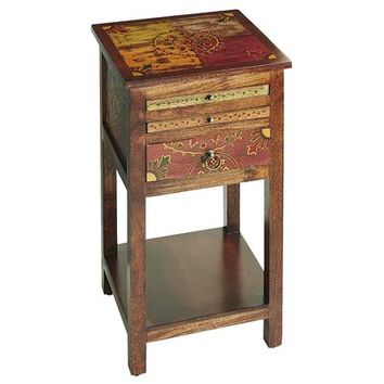 Suzani Pedestal Game Table