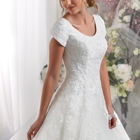 Bonny Bliss 2420 Lace and Tulle Wedding Dress
