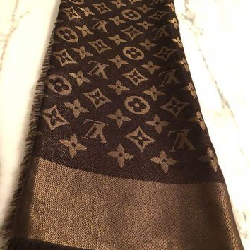 Louis Vuitton LV Women Men Easy To Match Shine Scarf Shawl I